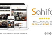 Sahifa Responsive WordPress News Magazine Blog Theme