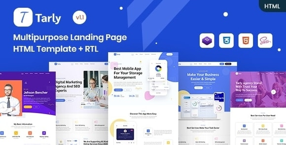 Tarly Multipurpose Landing Page HTML Template Download