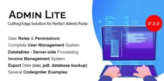 Admin Lite PHP Admin Panel User Management Nulled
