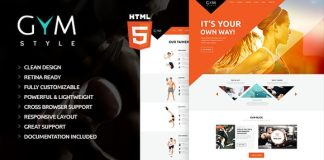 GYM Sport and Fitness Club HTML Theme Download