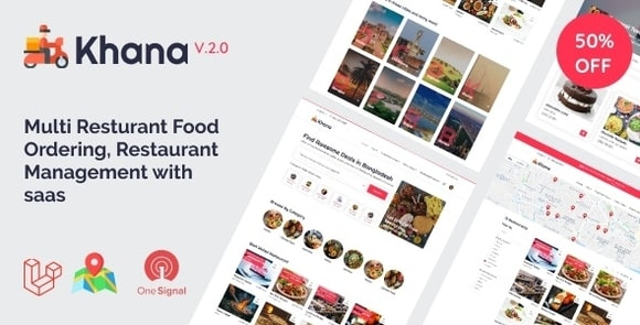 Khana Multi Resturant Food Ordering Restaurant Management With Saas Nulled