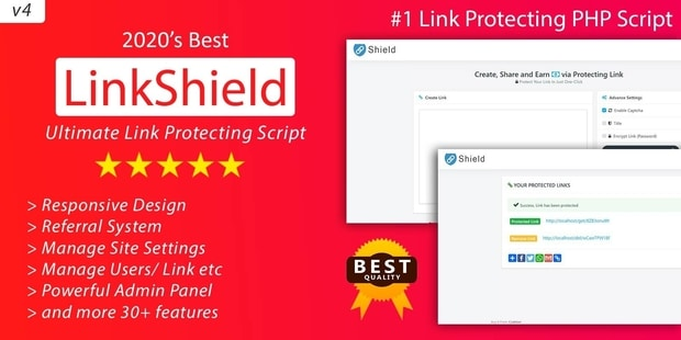 LinkShield Link Protecting PHP Script Nulled