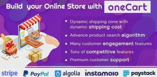 oneCart eCommerce Software Online Store Solution