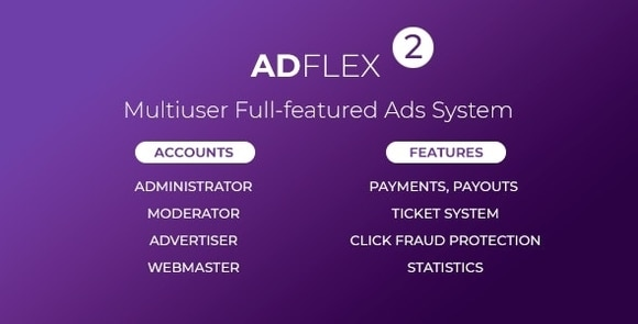 AdFlex Multi User Full-featured Ads System Nulled