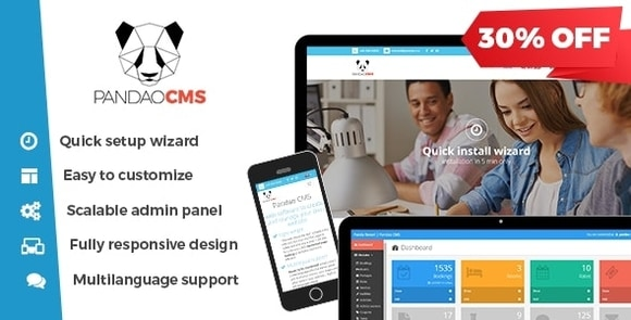 Pandao CMS Pro 4 Fully Responsive Content Management System