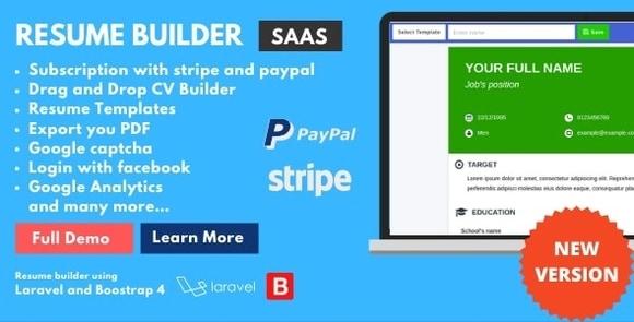 ResumeFaGo Saas Resume and CV Builder Nulled Script Download
