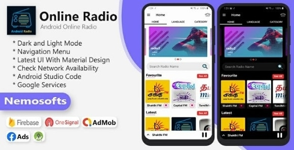 Android Online Radio App Source Code