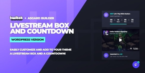 Twitch LiveStream Box and Countdown WordPress Plugin Download