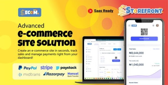 Ecom Fast Multi Store Front Builder SaaS PHP Script Nulled