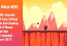 Jump Ninja Hero HTML5 Game Mobile Version Free Download