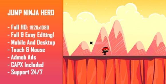Jump Ninja Hero HTML5 Game Mobile Version Free Download