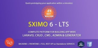 Laravel Multi Purpose Application CRUD CMS Sximo 6 Nulled