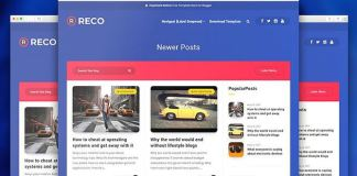 Reco Rresponsive Premium Blogger Template