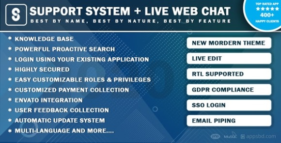 Best Support System Live Web Chat and Client Support Desk PHP Script