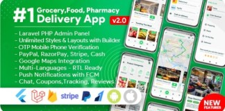Grocery Food Pharmacy Store Delivery Mobile App with Admin Panel