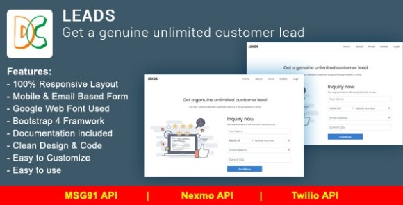 LEADS Get a Genuine Unlimited Customer Lead PHP Script