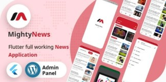 MightyNews Flutter News App with Wordpress Backend