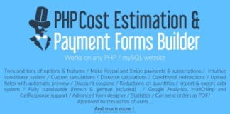 PHP Cost Estimation and Payment Forms Builder PHP Script