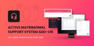 Active Matrimonial Support Ticket Addon Download