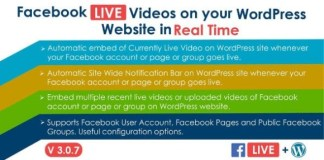 Facebook Live Video Auto Embed for WordPress Plugin