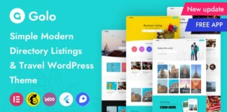 Golo Directory and Listing Travel WordPress Theme