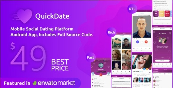 QuickDate Android Mobile Social Dating Platform Application Source Code