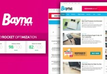 Bayna Fast High Speed Optimized Blogger Template