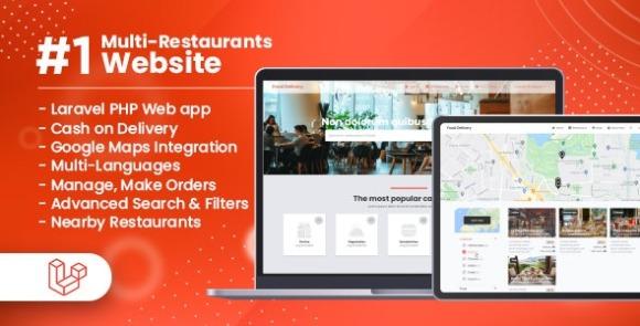 Customer Website For Multi-Restaurants Laravel App