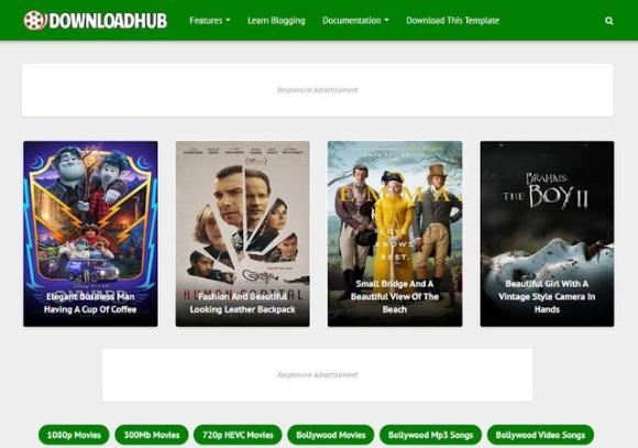 Download Hub Premium Blogger Template