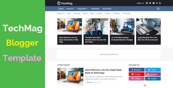 TechMag Premium Professional Blogger Template Download