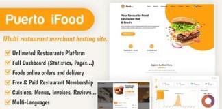 iFood - multi restaurant merchant hosting site SAAS