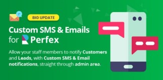 Custom SMS and Email Notifications for Perfex CRM Addon
