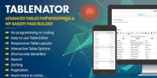 Tablenator Easy and Advanced Tables for WordPress Plugin
