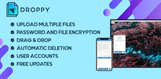Droppy Online File Transfer and Sharing Nulled PHP Script