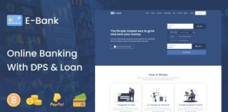 E-Bank Complete Online Banking System With DPS and Loan PHP Script