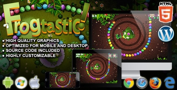 Frogtastic HTML5 Puzzle Game Download