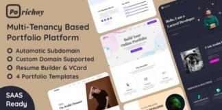 Porichoy Multitenancy Based Portfolio Builder Platform SaaS Nulled Script