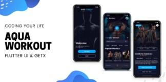 Aqua Workout Fitness App Flutter UI Kit using GetX Template