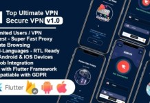 Secure VPN Ultimate Flutter Project Android and IOS with Admin Panel