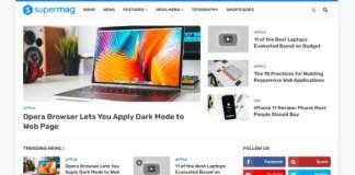 SuperMag Responsive Premium Magazine Blogger Template