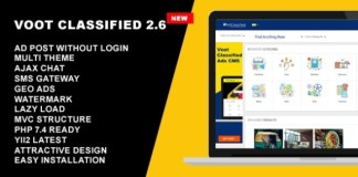 Voot Classified Ads CMS Script Nulled