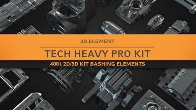 Photo of Gumroad – Tech Heavy Pro Kit (400+ 2d-3d Elements)