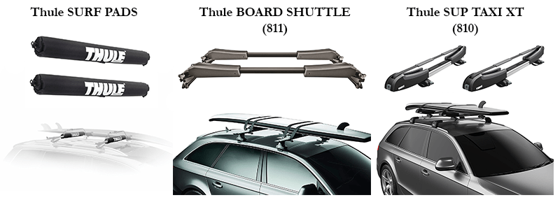 roof rack set up for cars surfing