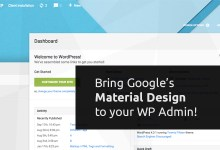Download Material WP v0.0.52 - Material Design Dashboard Theme