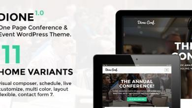 Dione v1.1.5 - Conference & Event WordPress Theme 8
