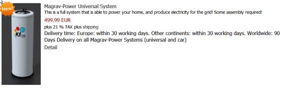 Magrav power system