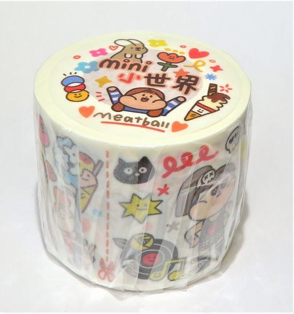 【meatball】mini小世界(特殊油墨・剝離紙付) - マスキングテープ専門店 沼のオアシス