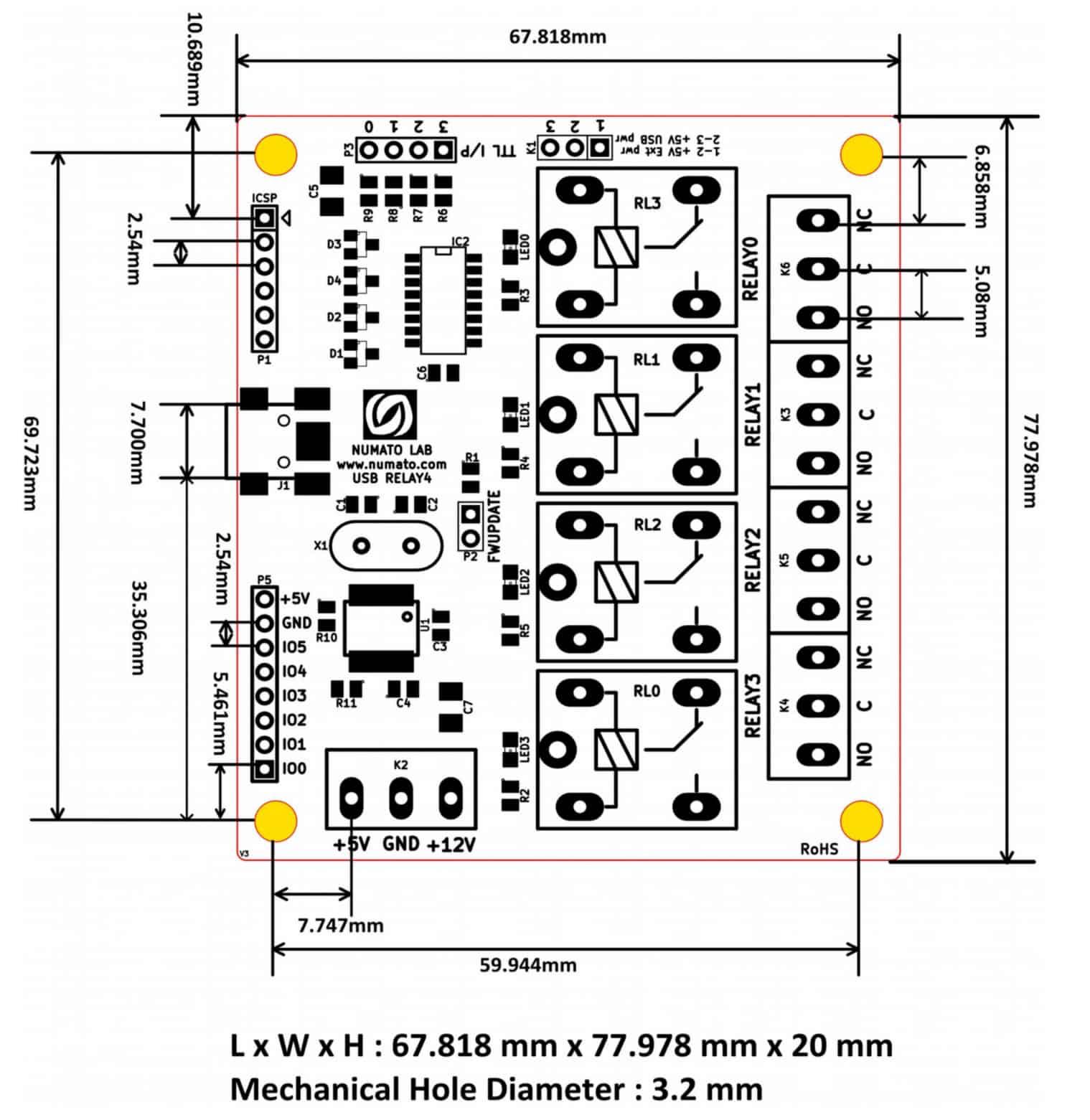4 Channel Usb Relay Module