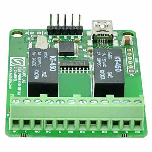 small resolution of 2 channel usb powered relay module