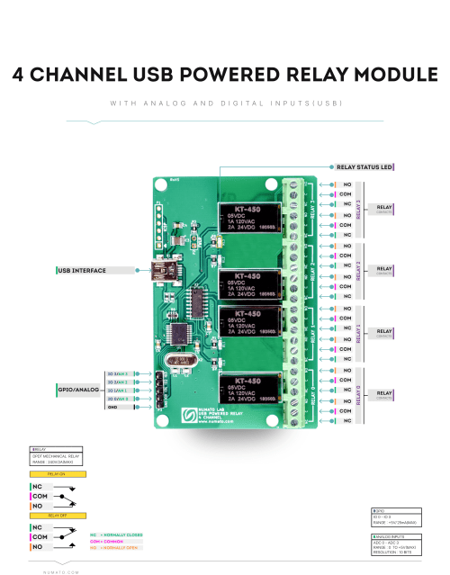 small resolution of 4 channel usb powered relay module wire diagram